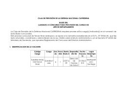 CAJA DE PREVISIÓN DE LA DEFENSA NACIONAL CAPREDENA BASES DEL