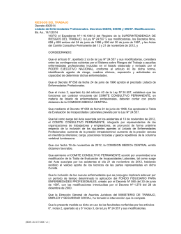 RIESGOS DEL TRABAJO Decreto 49/2014 Bs. As., 14/1/2014