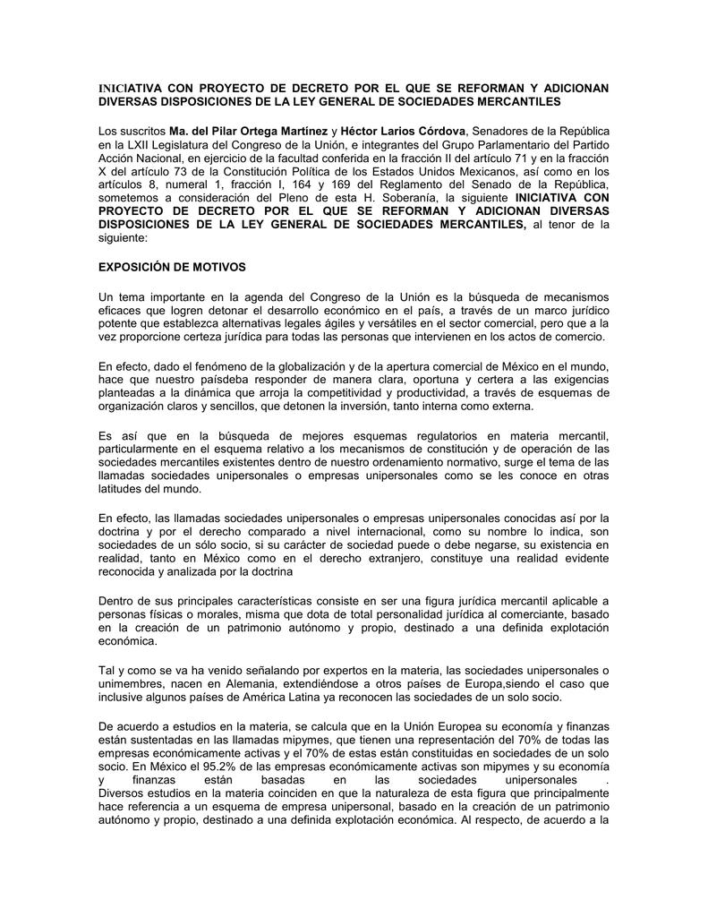 Iniciativa Con Proyecto De Decreto Diversas