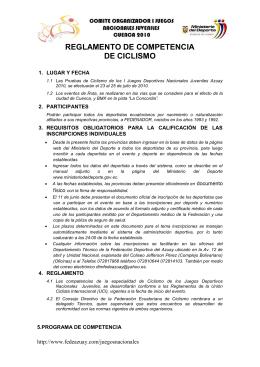 Ciclismo - Ministerio del Deporte
