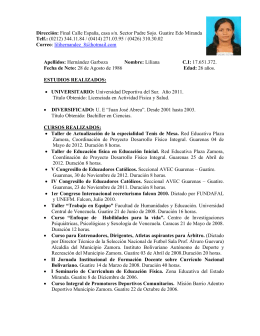 Sintesis curricular datos personales for Ministerio de relaciones interiores espana