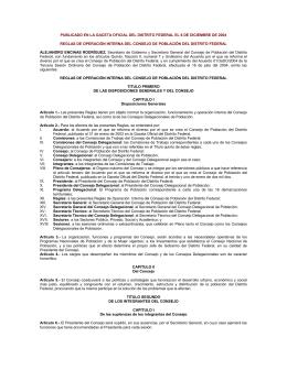 reglas de operación interna del consejo de población del distrito