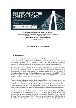 XXXV REUNIÓN DE ESTUDIOS REGIONALES