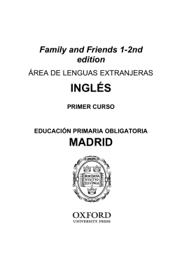 Family and Friends 1 2nd edition Programación LOMCE castellano