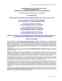 COMISIÓN NACIONAL DE ACUACULTURA Y PESCA