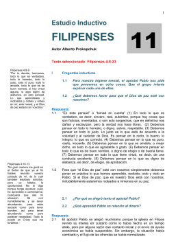 Estudio Inductivo FILIPENSES