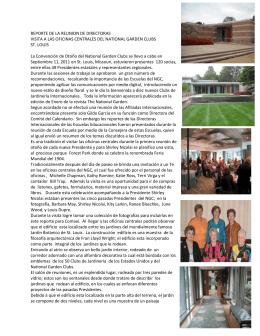 REPORTE DE LA REUNION DE DIRECTORAS VISITA A LAS