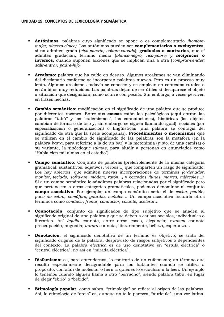 Ii Lexicología Y Semántica