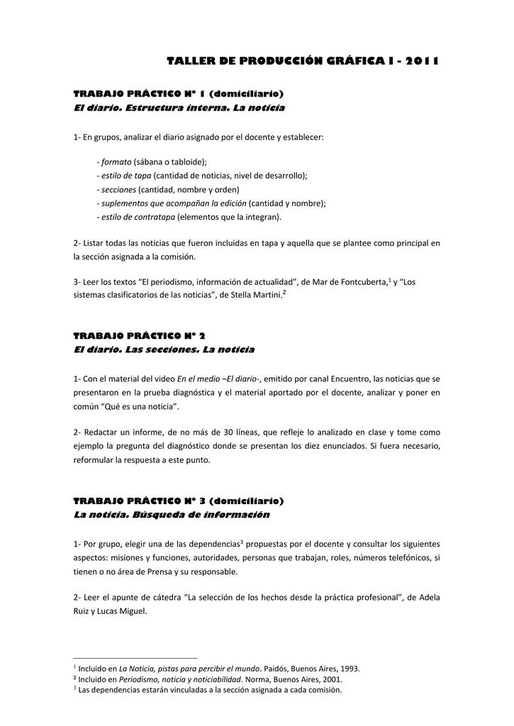 Tp 1 A 10 Facultad De Periodismo Y Comunicación Social De La