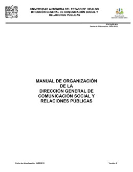 Manual de Organización - Universidad Autónoma del Estado de