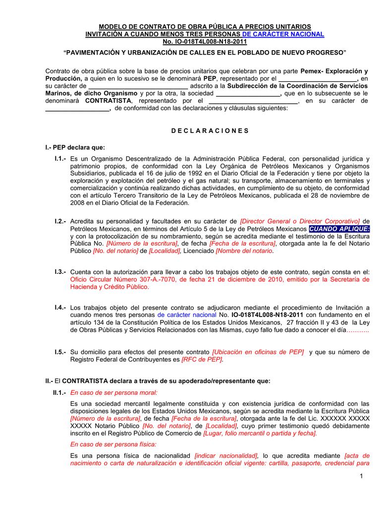 Modelo Contrato nuevo progreso