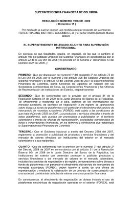 Resolución - Superintendencia Financiera de Colombia