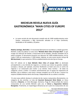 CP Michelin Main Cities of Europe