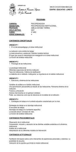 PSICOPEDAGOGIA INSTITUCIONAL 07