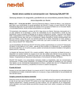 Nextel ahora cambia la conversación con Samsung GALAXY S5
