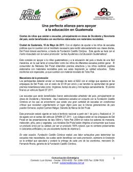 Una perfecta alianza para apoyar a la educación en Guatemala