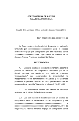 CSJ SC, AUTO - corte suprema.gov.co