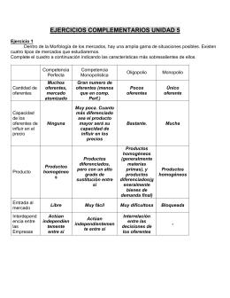 EJERCICIOS COMPLEMENTARIOS UNIDAD 5