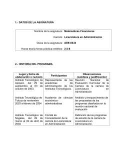 4to Sem - MATEMATICAS FINANCIERAS