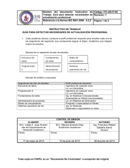 Nombre  del  documento:  Instructivo  de Código: ITC-AD-IT-05
