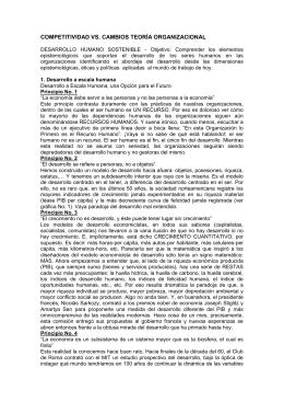 COMPETITIVIDAD VS. CAMBIOS TEORÍA ORGANIZACIONAL