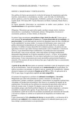 2º Bachillerato  GRÁFICA  MAQUINARIA Y FERTILIZANTES.