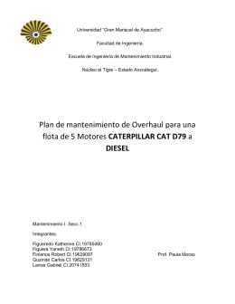 PLAN DE MANTENIMIENTO OVERHAUL PARA