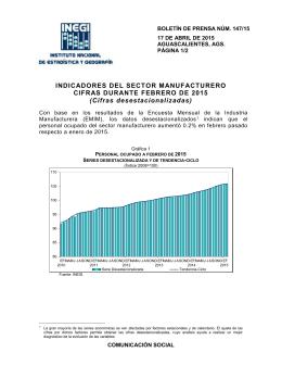 """Sector manufacturero crece a """"gramitos"""""""