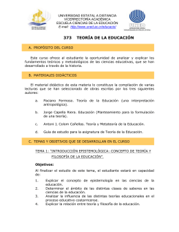 373  TEORÍA DE LA EDUCACIÓN