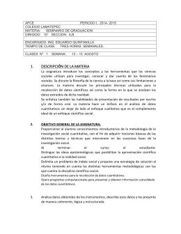 APCE          ... COLEGIO LAMATEPEC MATERIA:      SEMINARIO DE GRADUACION