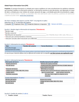 Global Payee Information Form (PIF) Propósito: El presente