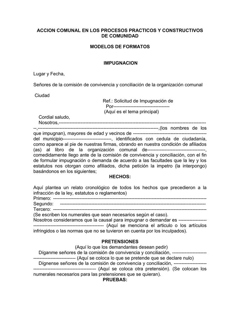 Formatos y modelos - Confederación Nacional de Acción Comunal