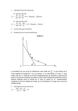 Elasticidad Precio de la Demanda: Epd entre 60 y 80 Epd entre 80 y