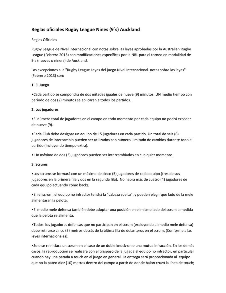Reglas 9-Por-Equipo