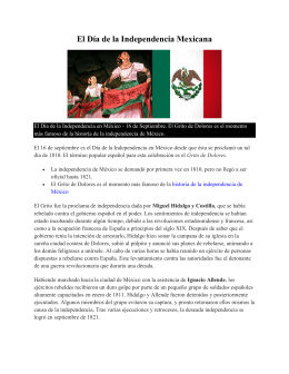 Mexico – Independencia y bandera