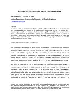 El influjo de la Ilustración en el Sistema Educativo Mexicano