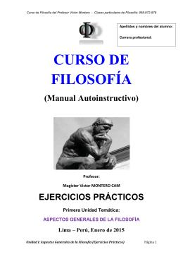 Curso de Filosofía del Profesor Víctor Montero