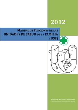 manual de funciones de la usf. - Ministerio de Salud Pública y