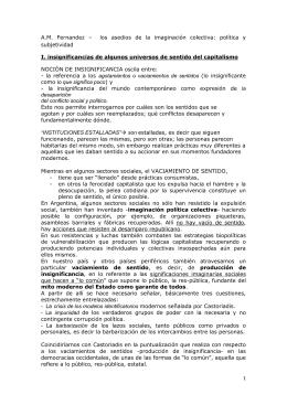 A.M. Fernandez – los asedios de la imaginación colectiva: política y