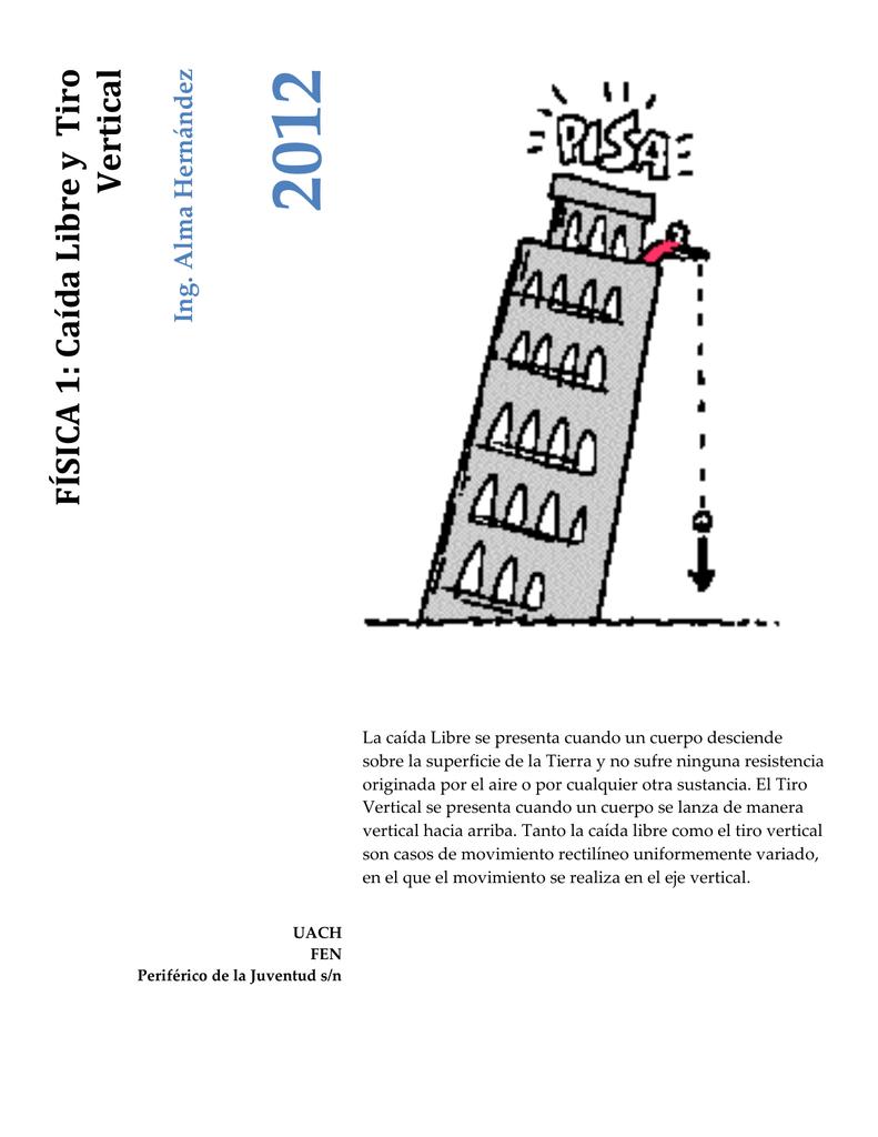 Física 1 Caída Libre Y Tiro Vertical