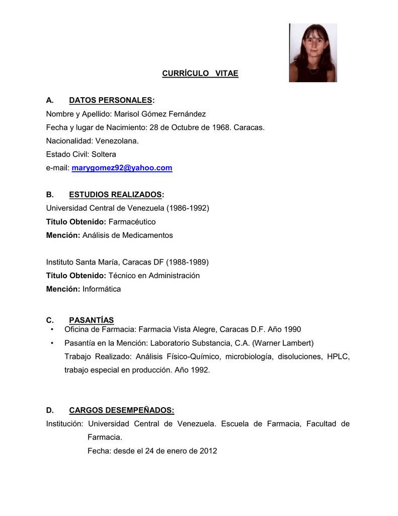 Vistoso Preparando Un Currículum Para Una Pasantía Fotos - Ejemplo ...