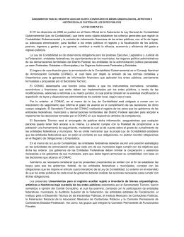 Lineamientos para el Registro Auxiliar Sujeto a Inventario de Bienes