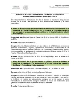 Segundo Periodo Ordinario (febrero - abril 2015).