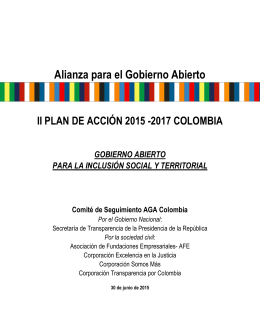 Plan de Acción - Open Government Partnership