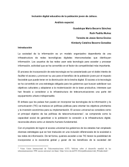 Inclusión Digital Educativa De La Población Joven