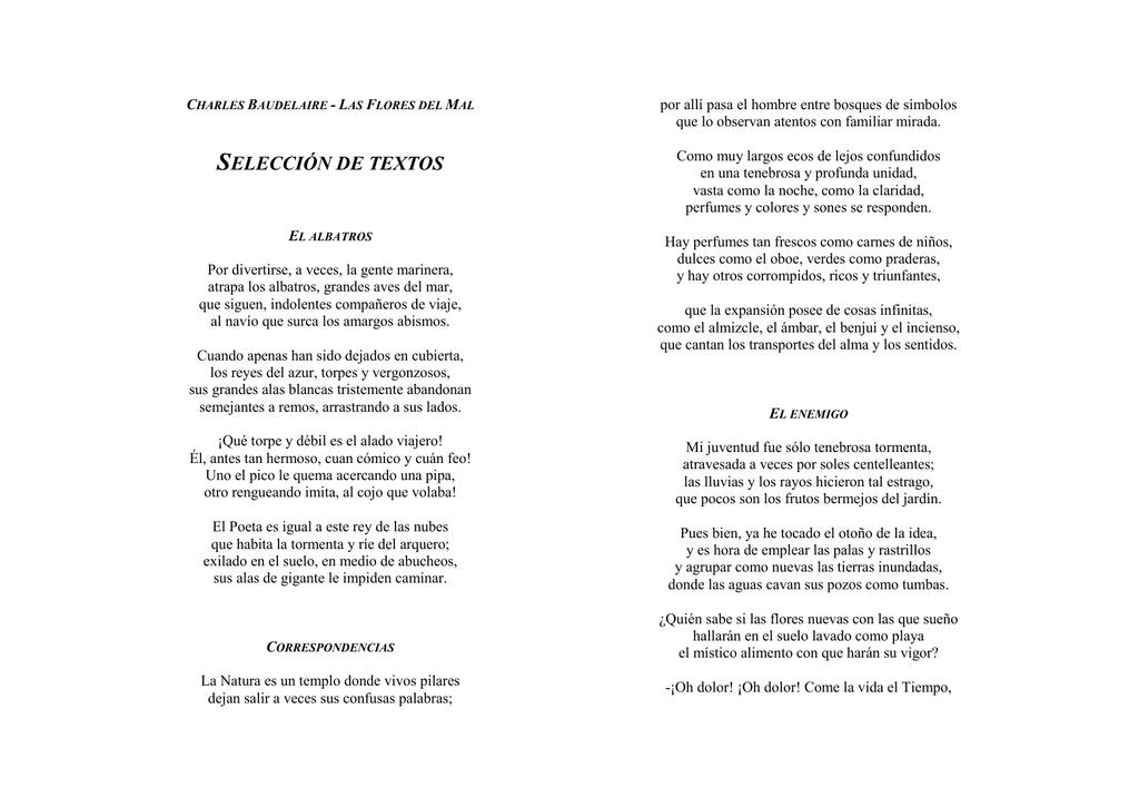 Baudelaire Selección De Poemas