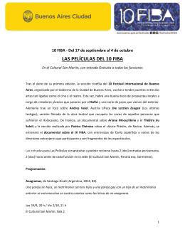 LAS PELÍCULAS DEL 10 FIBA