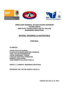 DIRECCIÓN GENERAL DE EDUCACIÓN SUPERIOR TECNOLÓGICA INSTITUTO TECNOLÓGICO DE CD. VALLES