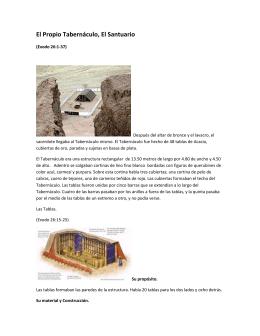 El Propio Tabernáculo, El Santuario