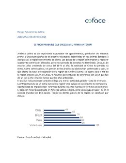 Riesgo País América Latina: ES POCO PROBABLE QUE